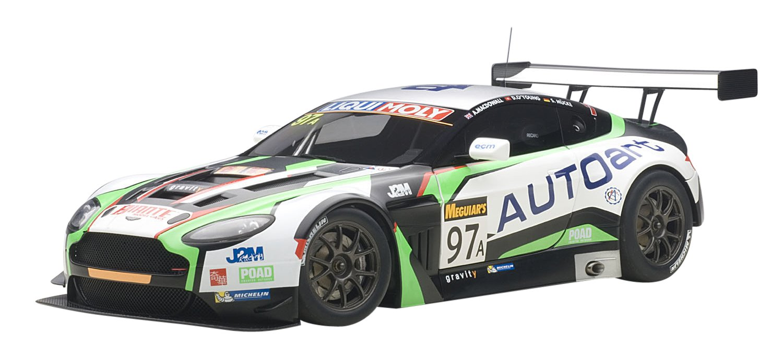AUTOart – 81506 – Aston Martin Vantage V12 GT3 – 12H di Bathurst 2015 – Scala 1 18 – nero bianco verde