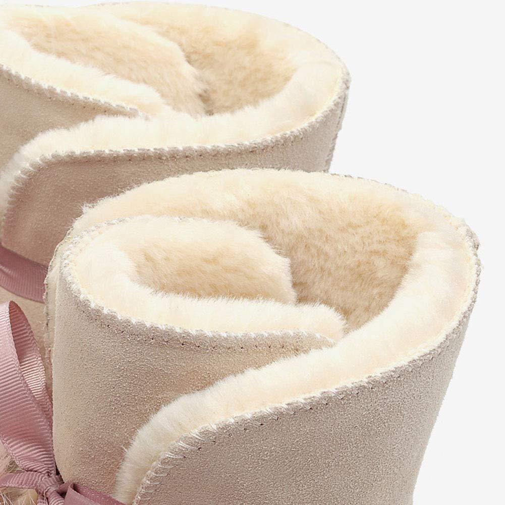 Wasserdichte Mittlere Stiefel für Damen Schneeschuhe Warm Padded Damen Warm Schneeschuhe Warm Damen Pelz Stiefeletten Winter Schneeschuhe für Damen Nylon Kurz Schnee Pelz Regen Wasserdichte Stiefel Puff Stiefel 11d92f