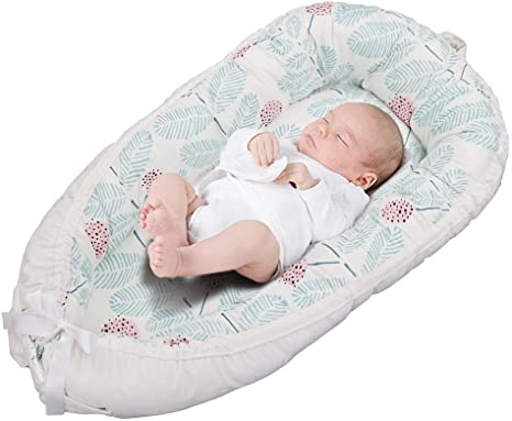 Volwco Portable Double-Sided Detachable Newborn Lounger Baby Lounger Baby Bionic Bed for 0-2 Years Infants 100/% Cotton /& Suede Crib Mattress for Bedroom Travel