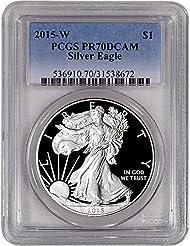 2015 W American Silver Eagle Proof $1 PR70 PCGS DCAM