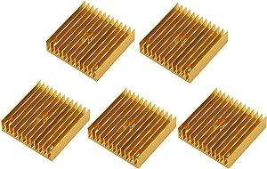TOUHIA 5 Pcs 40x40x11mm Aluminum Chipset Cooling Fins for VRam Regulators VRM Stepper Driver MK7 MK8 3D Printer