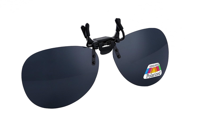 UK1stChoice-Zone Flip Up Nero Clip Su Occhiali da Sole Lenti Polarizzate IT-FBA-SunGlasses1304-Black
