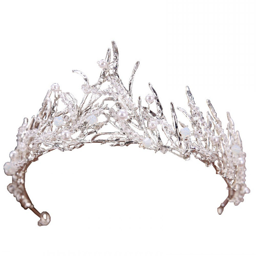 Miranda's Bridal Women's Bridal Tiaras Pageant Queen Crown Pearl Headbands for Shooting by Miranda's Bridal