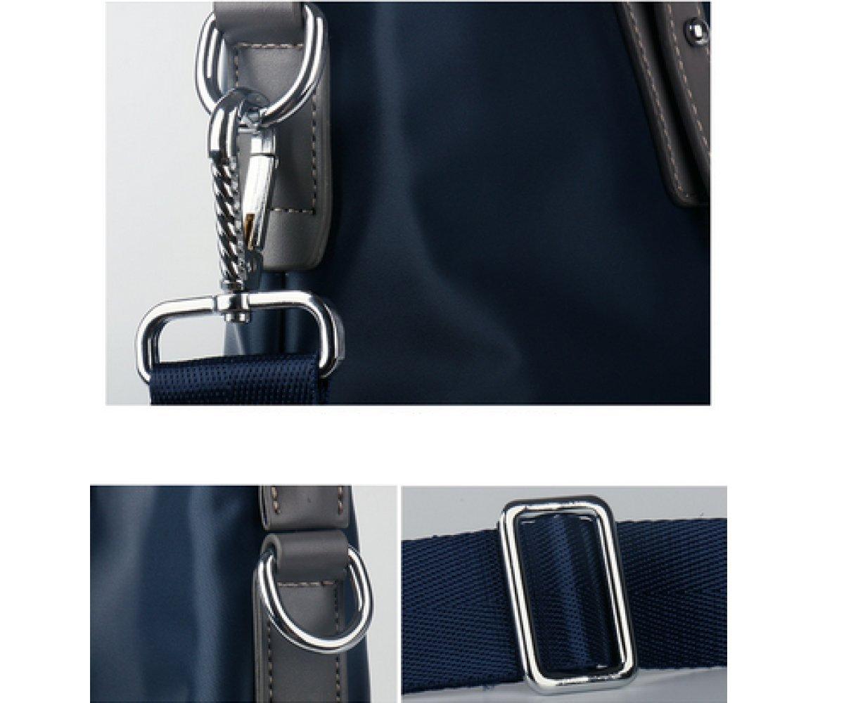 British Style Casual Men's Bag Waterproof Oxford Cloth Handbag Briefcase Shoulder Messenger Bag,Black-L by NUGJHJT (Image #9)