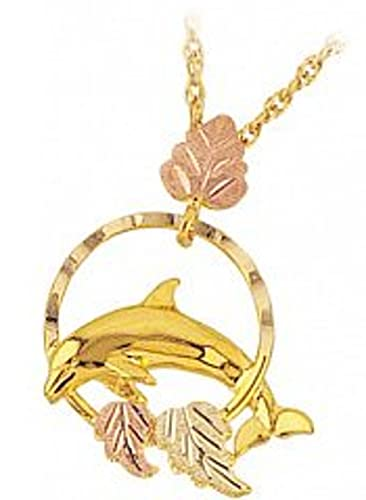 Amazon black hills gold dolphin necklace pendant necklaces black hills gold dolphin necklace aloadofball Gallery