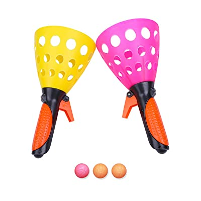 Drone Start 2 Pairs of Double Butt Ping Pong Ball Outdoor Sports Game Toy Launch Throw Catch Ball Set Parent-Child Interactive Toys: Toys & Games