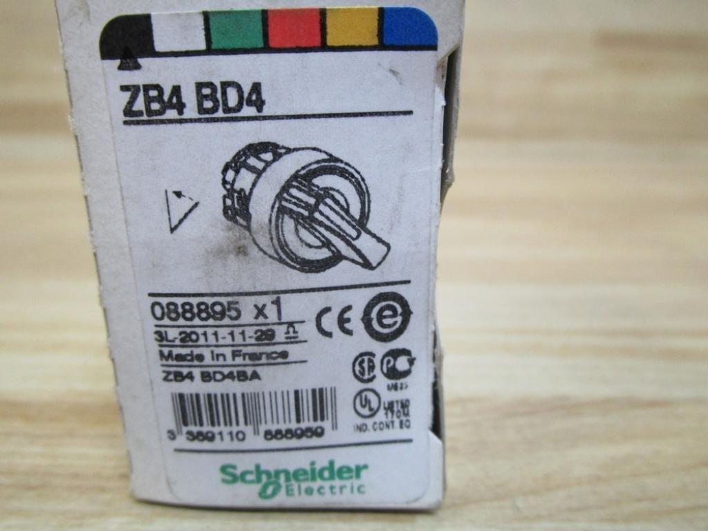Telemecanique Zb4bd4 2 Position Selector Switch Zb4bd4