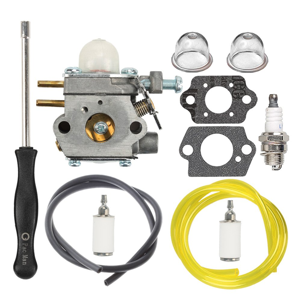 HIPA 753-06190 Carburetor with Fuel Line Filter Spark Plug for MTD Troy Bilt TB21EC TB22 TB22EC TB32EC TB42BC TB80EC TB2040XP String Trimmer Brushcutter by HIPA
