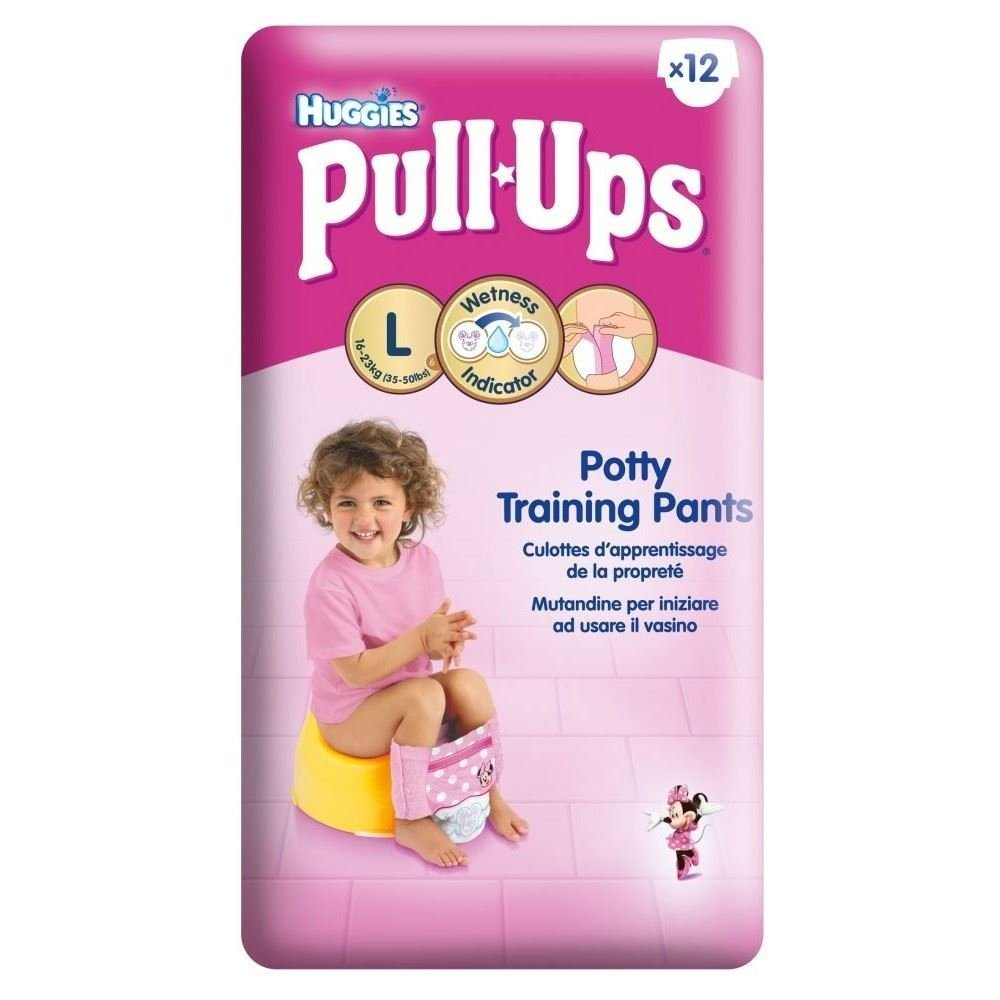 36 (12x6) Huggies Pull-Ups Potty Training Pants for Boys & Girls - Large (Size 6) (Girls)