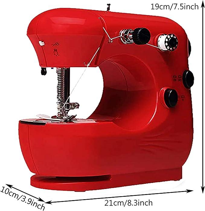 Mcree Mini máquina de coser portátil con 2 puntadas integradas ...