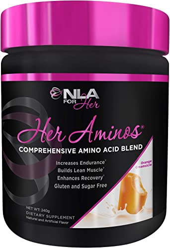 NLA for Her – Her Aminos – Comprehensive Amino Acid Blend – Supports Increased Endurance, Building Lean Muscle, Enhanced Recovery – Orange Creamsicle – 254 Grams