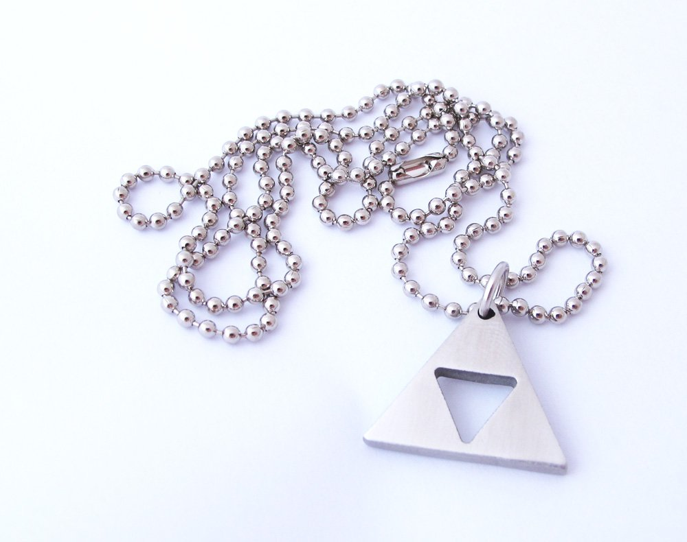Zelda Triforce Matte Necklace - Stainless Steel by Milkool (Image #5)
