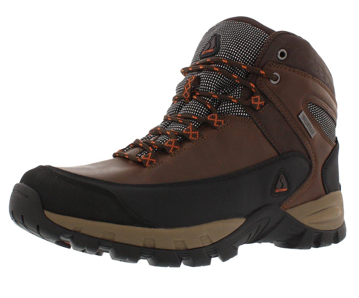 OTAH Forestier Men's Waterproof Hiking Mid-Cut Brown/Black Boots Size 9 by OTAH