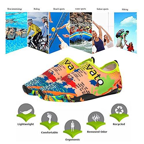 Panegy Männer Frauen Mutifunctional Barfuß Flexible Quick-Dry Wasser Haut Schuhe Aqua Socken Vatomap