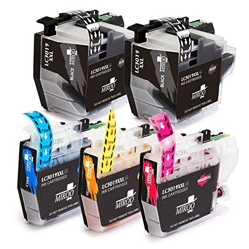 MIROO 5 Pack Compatible Ink Cartridge LC3019 XXL (2 Black 1 Cyan 1 Magenta 1 Yellow) Work on Brother MFC-J6930DW MFC-J6530DW MFC-J5330DW MFC-J6730DW Printer
