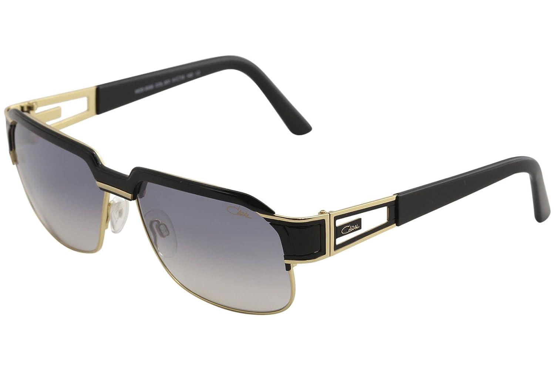 bd50ed2ad3d Amazon.com  Cazal Legends Men s 9068 001SG Black Gold Fashion Square  Sunglasses 61mm  Clothing