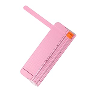 "JIELISI 9"" Paper Cutter, A5 Portable Scrapbooking Trimmer, Paper Trimmers, Pink"