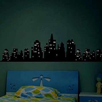 amazon myhome glow in the dark new york city light wall decals