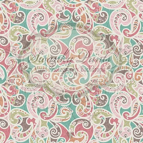 5x5FT Vinyl Photo Backdrops,Paisley,Iranian Traditional Art Photo Background for Photo Booth Studio Props