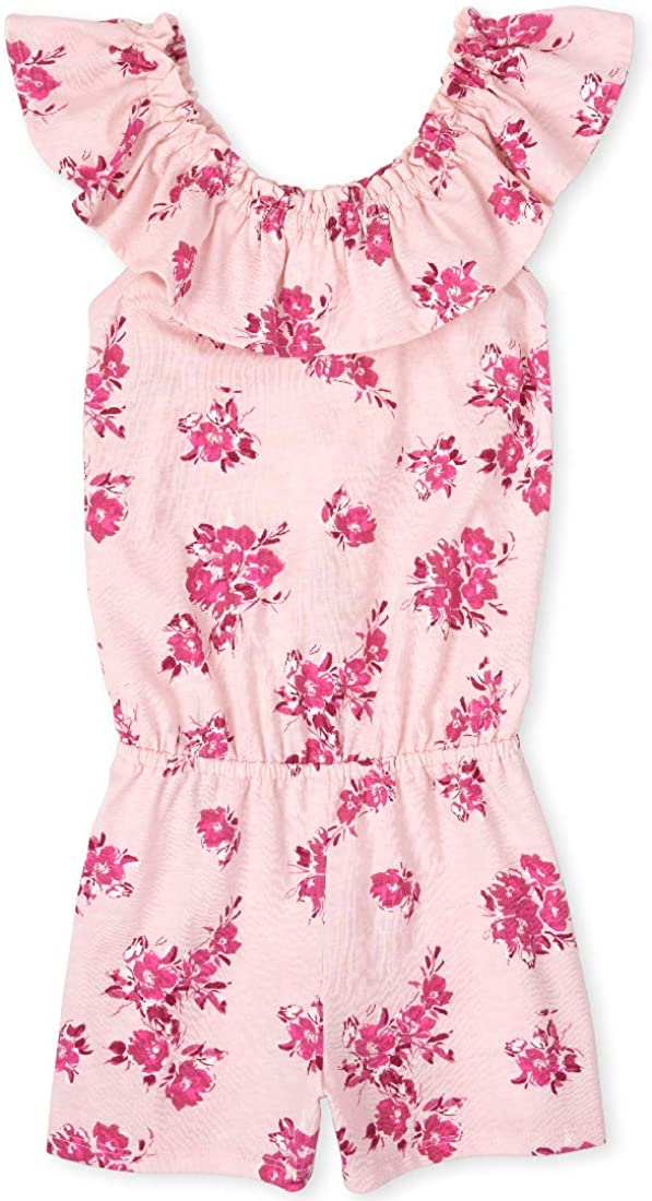 The Childrens Place Girls Sleeveless Graphic Romper
