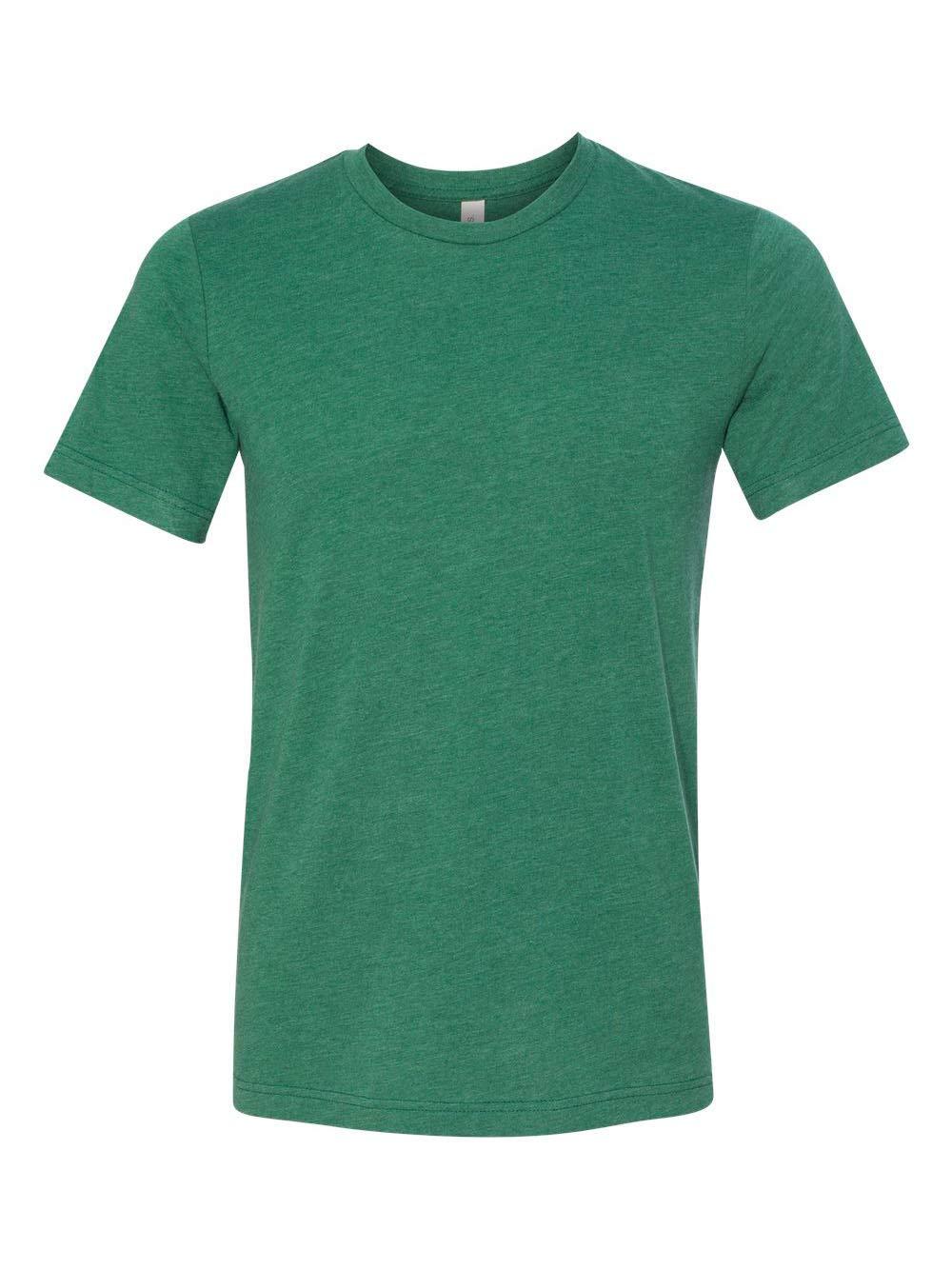 Bella Unisex Triblend Short Sleeve Tee, Grass Green Triblend, 3XL