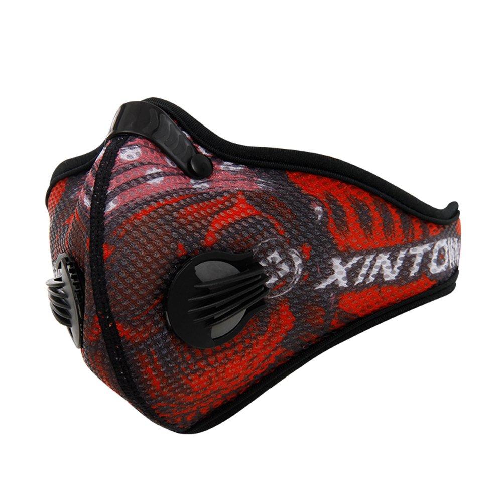 GWELL Unisex Masques Cyclisme du Sport Vélo VTT Moto avec Filtre de Charbon Actif PM2.5 Anti-poussière pour Cycliste Extérieure