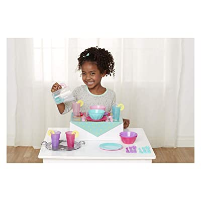 Perfectly Cute Set The Table Dinnerware Play Kitchen Accessory 34 Pc Set: Toys & Games