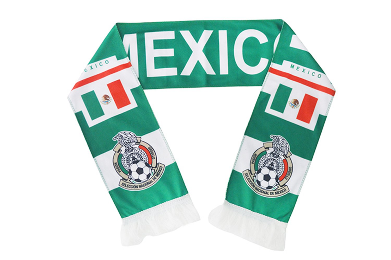 wifornt 2018ワールドカップファン両面サッカーニットスカーフスティックフラグファンネッカチーフのバー、スポーツイベント、フェスティバルイベントお祝い B07CXNN23K 160 cm x 18 cm|メキシコ メキシコ 160 cm x 18 cm
