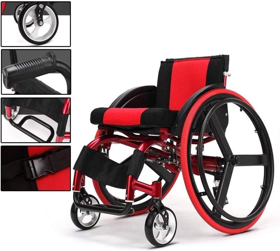 Ftaosh Sillas de Ruedas Deportivas y de Ocio con diseño antiinclinación, Silla de Ruedas de Transporte, Enviar a un Amigo