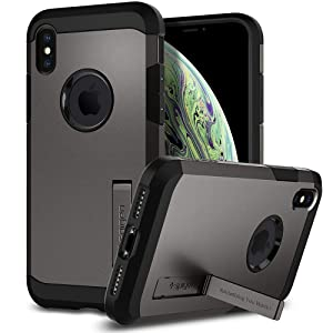 Spigen Tough Armor Designed for Apple iPhone Xs Case (2018) / Designed for Apple iPhone X Case (2017) - Gunmetal