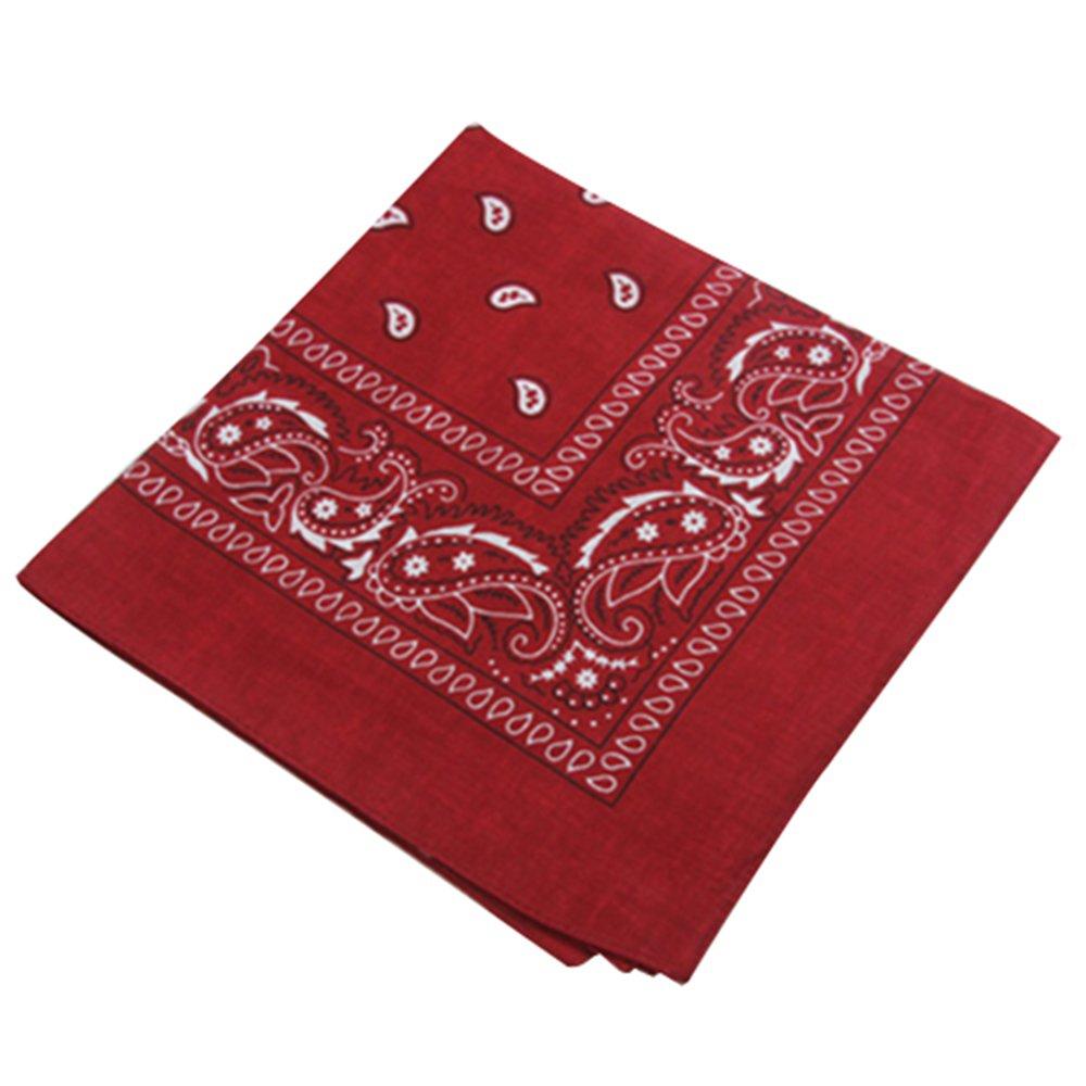 San Bodhi/® Men Paisley Bandanas Double Side Head Wrap Scarf Wristband Face Mask