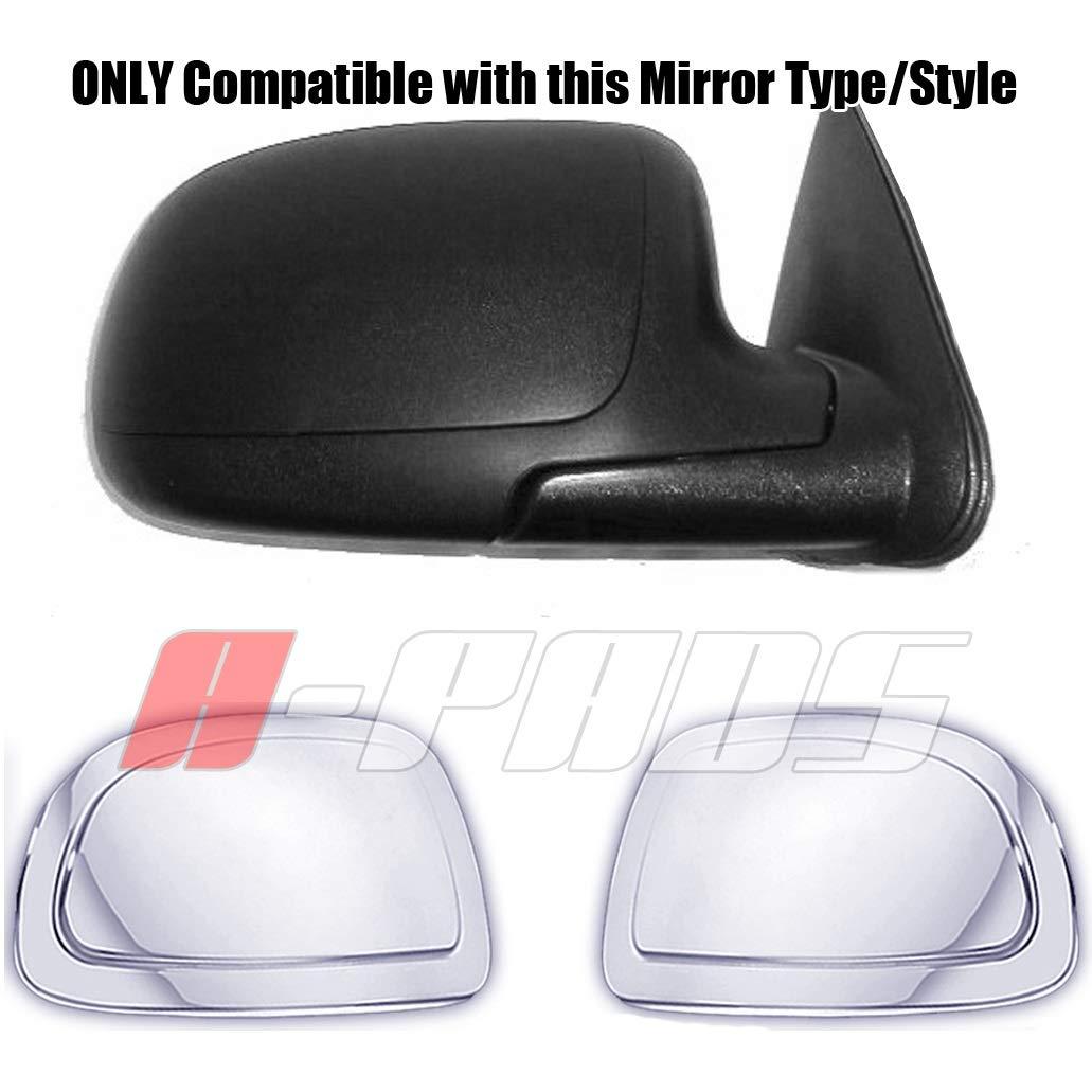 Chrome CAPS Mirrors Silverado 1500 2500 3500 1999-2006 Classic 2007 A-PADS 2 Chrome Mirror Covers for Cadillac Escalade 2002-2006 /& Chevy Avalanche 2002-2006 Suburban 2000-06 Tahoe 00-06