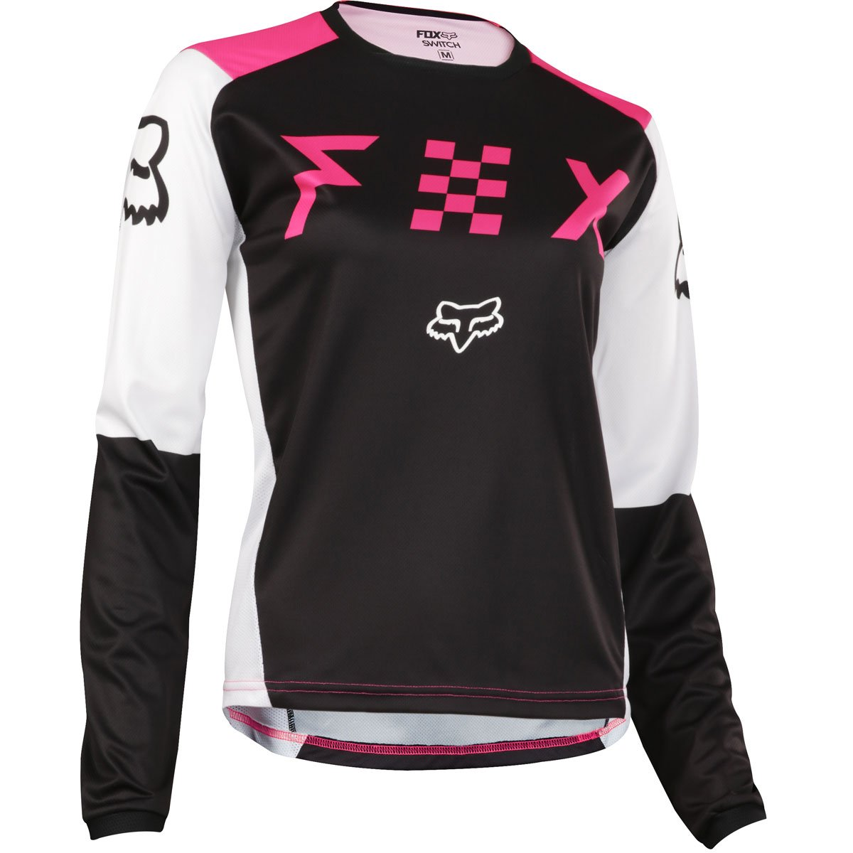 Fox Racing 2018 Womens Switch Jersey-Black/Pink-S