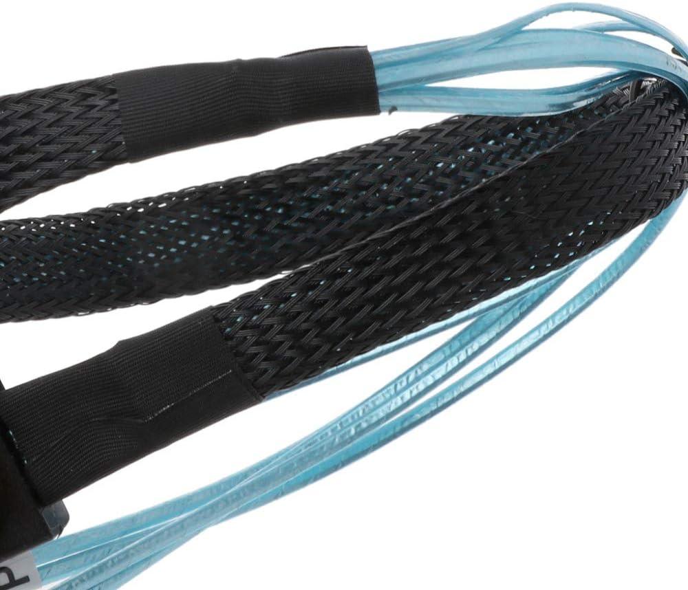 2Pcs 0.5M Internal Mini SAS SFF 8087 Male to SFF 8087 Male Cable 12 Gbps