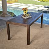 Cheap Marin Dark Brown Acacia Wood Outdoor Dining Table