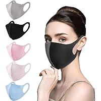Kids Face Bandanas [ Mon. to Fri. ] - 5 PCS Reusable Cloth Face Bandanas Set, Cotton, Back to School/Work Supplies