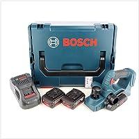 Bosch GHO Akku Hobel 18V 82mm + 2x Akkus 5,0Ah + Ladegerät + L-Boxx