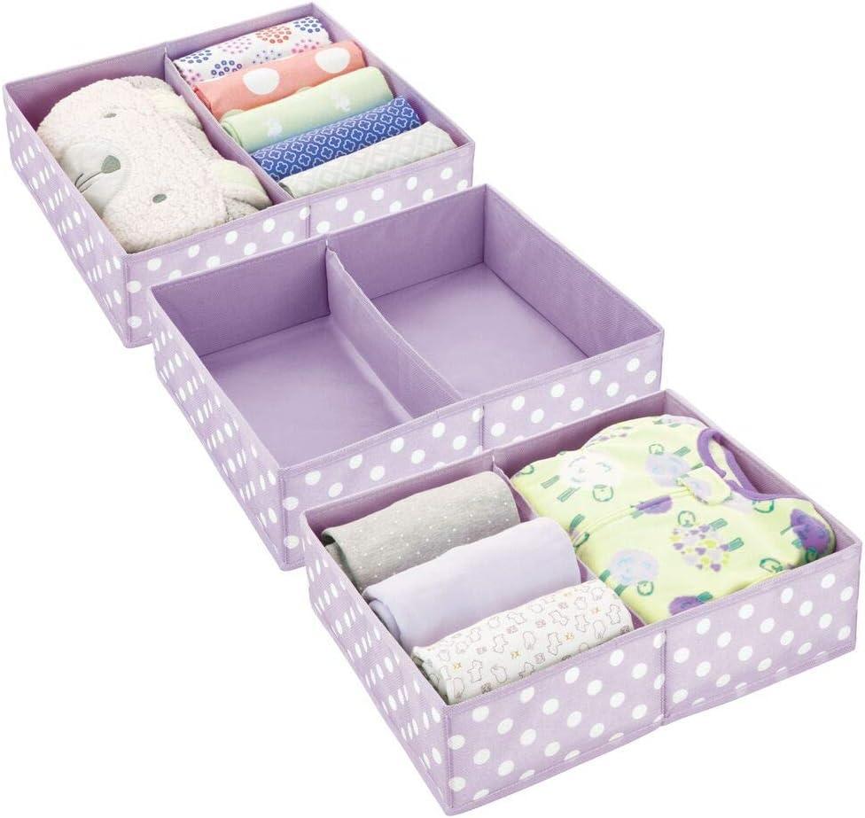 mDesign Juego de 3 Cajas para almacenar Ropa o Cosas de niños ...