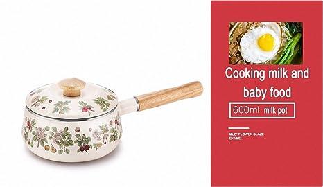 XiangYan Olla de guisado de esmalte a alta temperatura, leche hervida, café, platos