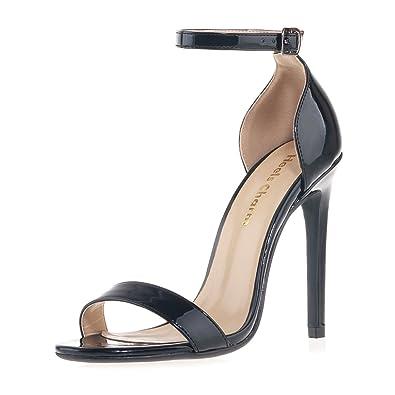 Women's Charm Ankle Strap High Heel Platform Dress Boots