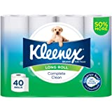 Kleenex Complete Clean Long Roll Toilet Paper (Pack of 40)