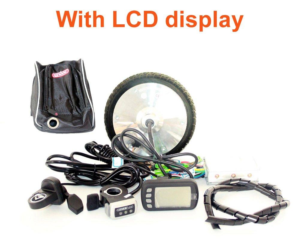 L-faster 6.5 Inch Brushless Hub Motor Kit 36V 150W E-Scooter Motor Wheel Kit with LCD Display Thumb Throttle EBS Brake 170MM Motor Wheel (24V with LCD Display)
