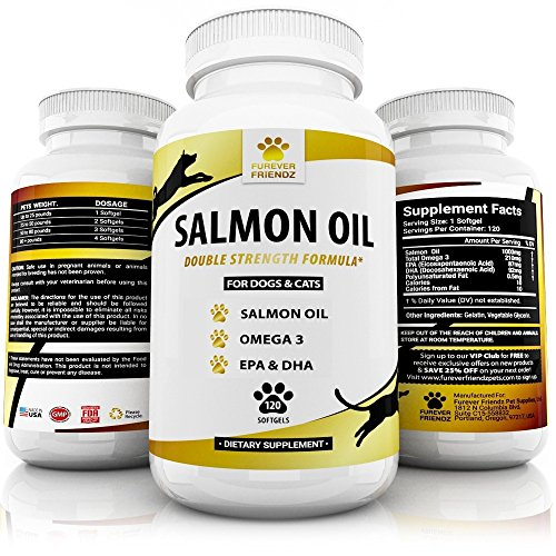 Wild Alaskan Salmon Oil Supplement For Dogs & Cats - Fish...