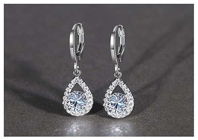 795bddd77 HaoChen & Korean new sterling silver tassel earrings horse eye blue crystal  earrings (Blue): Amazon.co.uk: Jewellery