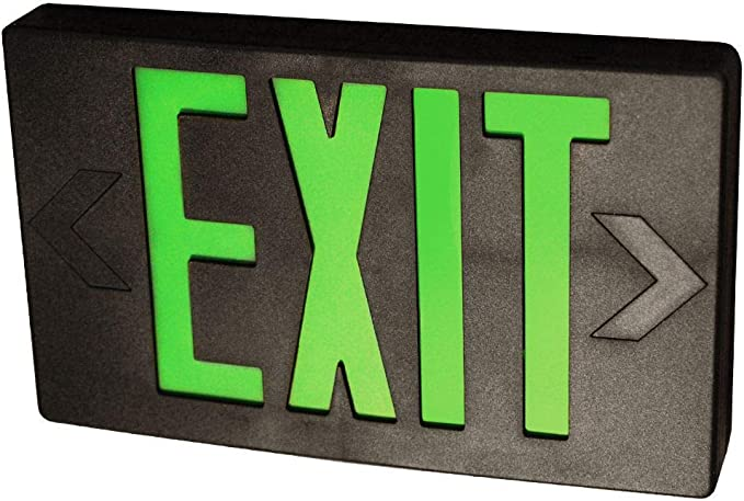 Details about  /Exitronix 55794 Green Exit Light Emergency Sign *FREE SHIPPING*