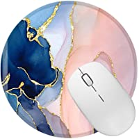 BOCHEERY Mouse Pad, Round Mouse Mat, Non-Slip Rubber Mousepad with Design, Cute Office Mouse Pad with Stitched Edge for…
