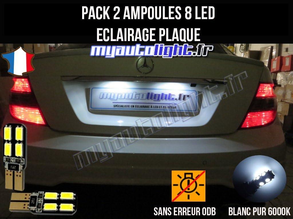 MyAutoLight Pack ampoules led /éclairage plaque pour Classe E W210 W211
