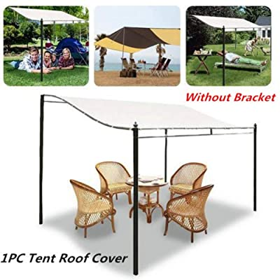 Younar Canopy Top Cover, 300D Waterproof Canvas Awning Gazebo Cover Tent Roof Garden Winds Replacement Single Layer Cover for Outdoor Patio Backyard Lawn Shelter : Garden & Outdoor