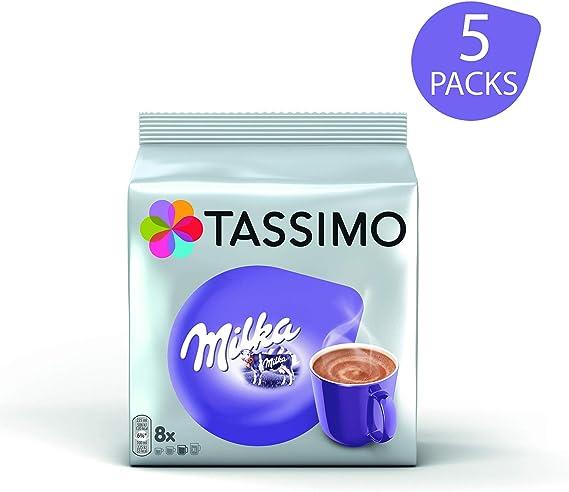 Tassimo Milka Bebida Chocolate Caliente Cápsulas - 5 Paquetes (40 ...
