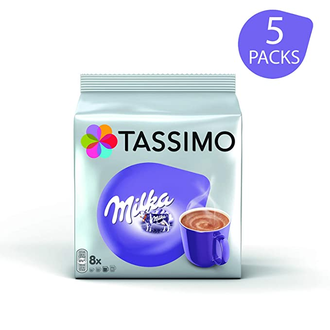 Tassimo Milka Hot Chocolate 8 T Discs Pack Of 5 Total 40 T Discs 40 Servings